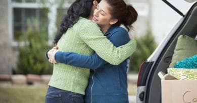 2 ladies hugging| How to manage your first move from home
