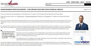 world wealth journalnbsp  Chris Brown Mortgage Broker and Real Estate Agent
